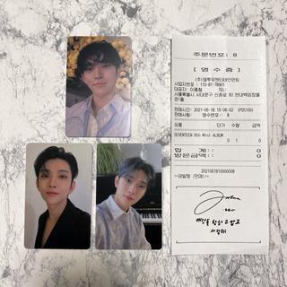 セブンティーン(SEVENTEEN)のSEVENTEEN ジョシュア ラキドロ 3種+レシートセット(K-POP/アジア)
