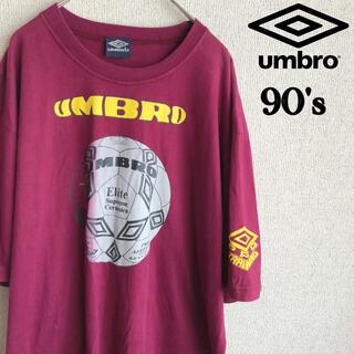 UMBRO - 90s UMBRO ビッグロゴ プリント 半袖 Tシャツ アンブロ 古着 XL