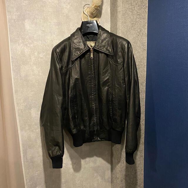 Saint Laurent(サンローラン)のHedi slimane SOHO リブレザー ジャケット エディスリマン メンズのジャケット/アウター(レザージャケット)の商品写真