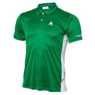 ルコックスポルティフ(le coq sportif)のルコックスポルティフ テニスウェア 半袖ポロシャツQTULJA70ZZ緑メンズM(ウェア)