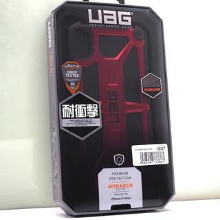 iPhone XS Max 用 UAG 耐衝撃ケース Monarch クリムゾン(iPhoneケース)