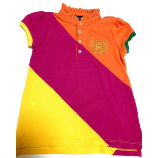 ラルフローレン(Ralph Lauren)のラルフローレン キッズ女児 ポロシャツ110cm 2回のみ着用の美品(Tシャツ/カットソー)