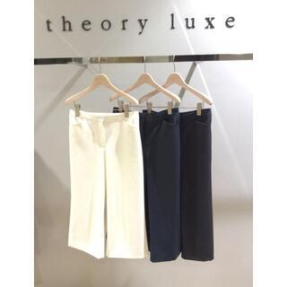 セオリーリュクス(Theory luxe)のtheory luxe セオリーリュクス ルーセントパンツ ワイドパンツ M(クロップドパンツ)