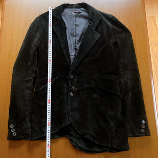ルグランブルー(LGB)のジュリーブラック スウェードレザーアシンメトリーテーラードジャケット サイズ1(テーラードジャケット)