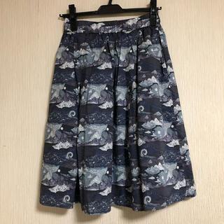 ドアーズ(DOORS / URBAN RESEARCH)のリバティプリントスカート(ひざ丈スカート)