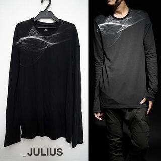 ユリウス(JULIUS)のJULIUS プリントカットソー 1 2016FW ブラック ユリウス(Tシャツ/カットソー(七分/長袖))