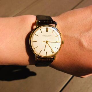 インターナショナルウォッチカンパニー(IWC)の【ヴィンテージ 】金無垢 IWC 自動巻 腕時計 OH済み(腕時計(アナログ))