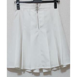 アンクルージュ(Ank Rouge)のAnk Rouge プリーツスカート ホワイト(ミニスカート)