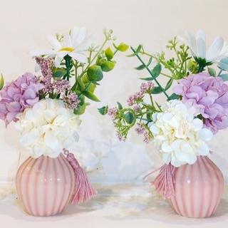 新品 花瓶付き 木箱付き 仏花 造花 ギフトに!プレゼントBOX(その他)