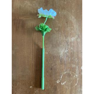 フランフラン(Francfranc)の未使用品 造花 ボタニカルペン フラワーボールペン 白花(ペン/マーカー)