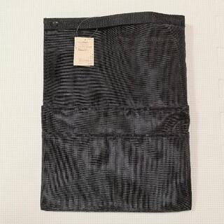 ムジルシリョウヒン(MUJI (無印良品))のナイロンメッシュバッグインバッグ A4 タテ 黒(リュック/バックパック)