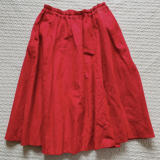ミナペルホネン(mina perhonen)のhaupia ハウピア フレアスカート 赤(ひざ丈スカート)