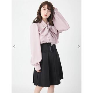 アンクルージュ(Ank Rouge)の♡ Ank Rouge ビジューリボンプリーツスカート ♡(ミニスカート)