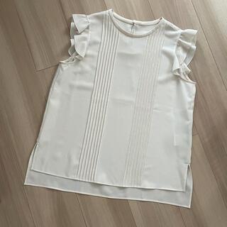 フォクシー(FOXEY)のフォクシー デイジーリン TEAブラウス ホワイト シャツ (シャツ/ブラウス(半袖/袖なし))