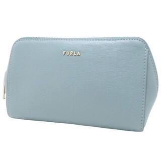 フルラ(Furla)のフルラポーチ コスメケースM レザー ライトブルー水色 40800073149(ポーチ)