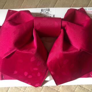 浴衣 結び帯 ピンク りぼん(浴衣帯)