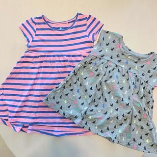 ネクスト(NEXT)のチェック ワンピース Tシャツ 95  98  100 女の子(ワンピース)