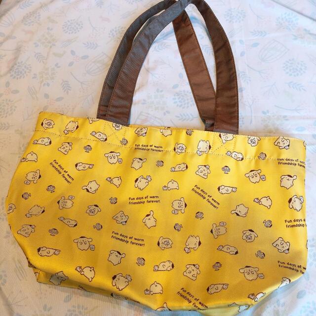 ポムポムプリン(ポムポムプリン)のポムポムプリン 手さげバッグ エンタメ/ホビーのおもちゃ/ぬいぐるみ(キャラクターグッズ)の商品写真