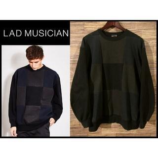 ラッドミュージシャン(LAD MUSICIAN)のラッドミュージシャン 17SS パッチワーク ビッグ スウェット シャツ 42(スウェット)