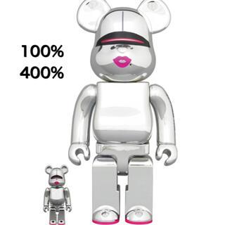 メディコムトイ(MEDICOM TOY)のBE@RBRICK SORAYAMA 2G SILVER 100% & 400%(その他)