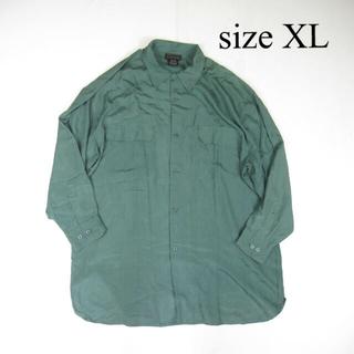 ヨウジヤマモト(Yohji Yamamoto)の90s vintage ヴィンテージ ビッグシルエット シルク シャツ 絹 緑(シャツ)