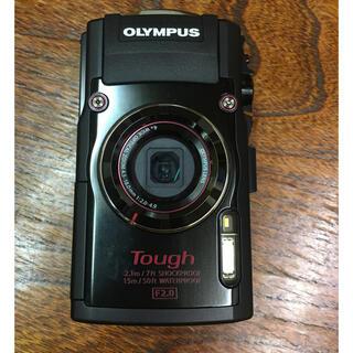 オリンパス(OLYMPUS)のOLYMPUS オリンパス TG TG4 BLACK 中古美品(コンパクトデジタルカメラ)