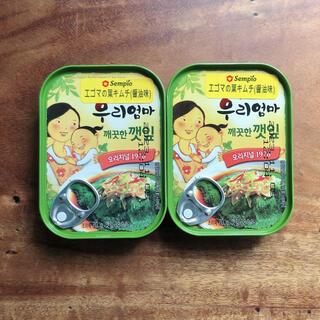 カルディ(KALDI)のKALDI エゴマの葉キムチ(醤油味) 2缶(缶詰/瓶詰)