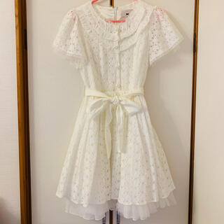 ロディスポット(LODISPOTTO)のmille fille closet プリンセスクリーミーレースワンピース シロ(ひざ丈ワンピース)