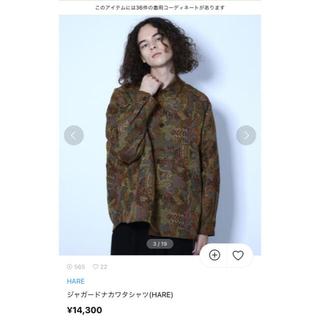ハレ(HARE)のHARE ジャガードナカワタシャツ グリーン 希少 M(シャツ)