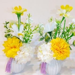新品!花瓶つき 仏花!木箱つき!ギフトにお土産に!造花 お仏壇 お供え(その他)