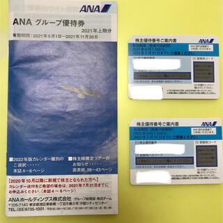 エーエヌエー(ゼンニッポンクウユ)(ANA(全日本空輸))の株主優待券 ANA   2022年5月31日まで(航空券)