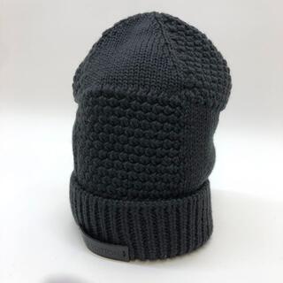 ルイヴィトン(LOUIS VUITTON)のルイヴィトン ニット帽 ビーニー ポリエステル ブラック(ニット帽/ビーニー)
