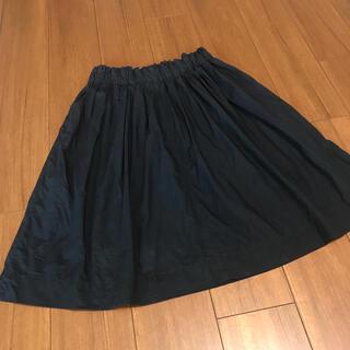 ムジルシリョウヒン(MUJI (無印良品))の無印良品muji ダークネイビー ミモレ丈スカート (ひざ丈スカート)