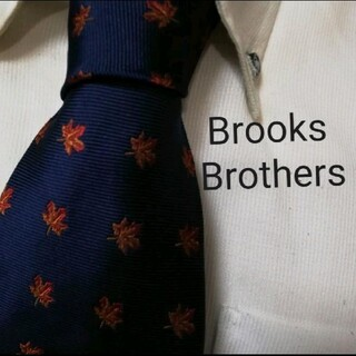 Brooks Brothers - 美品★ブルックスブラザーズ★落葉もみじ柄高級シルクネクタイ★希少