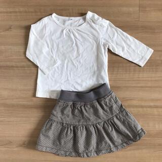 ムジルシリョウヒン(MUJI (無印良品))の無印良品 トップス ロンT スカート  80(Tシャツ)
