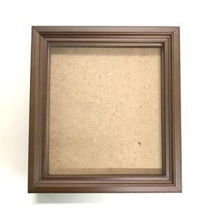 色紙額 HS型 1/4色紙用(138×123mm) ブラウン(絵画額縁)
