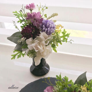 【仏花 パープル ❁.*・゜ お花のみ アーティフィシャルフラワー (その他)