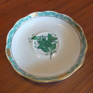 ヘレンド(Herend)のヘレンド HEREND インドの華 アポニーグリーン ソーサー  難あり(食器)