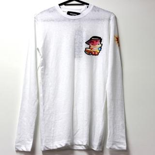 ディースクエアード(DSQUARED2)の未使用 ディースクエアード プリント 長袖 ロンT ホワイト(Tシャツ(長袖/七分))