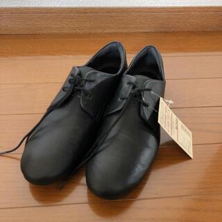ムジルシリョウヒン(MUJI (無印良品))の未使用 無印良品 レースアップシューズ 23.5㎝ 黒 ブラック レザー(ローファー/革靴)
