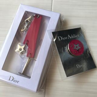 ディオール(Dior)のディオール Dior キーホルダー チャーム ロゴ  バッチ バッジ ノベルティ(キーホルダー)