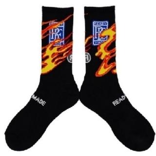 Supreme - 1足★READYMADE 3P CREW SOCKS FIRE / BLACK