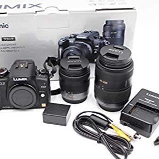 パナソニック(Panasonic)のパナソニック デジタル一眼カメラ G2ダブルズームレンズキット ブラック(デジタル一眼)
