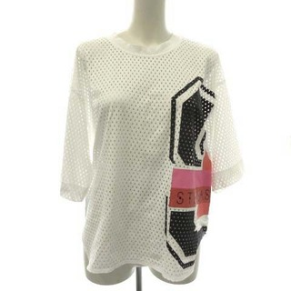 アディダスバイステラマッカートニー(adidas by Stella McCartney)のアディダス バイ ステラマッカートニー M MESH TEE Tシャツ 白(カットソー(半袖/袖なし))