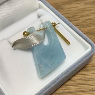 アッシュペーフランス(H.P.FRANCE)のMONAKA jewellery ロックピアス アクアマリン 片耳(ピアス)