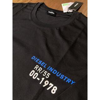 ディーゼル(DIESEL)のDIESEL  新品 XXLサイズ  ロングTシャツ 薄手 ブラック ディーゼル(Tシャツ/カットソー(七分/長袖))