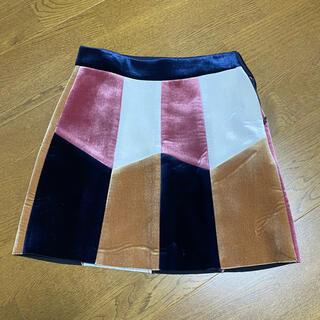 スタイルナンダ(STYLENANDA)の韓国 ベロアミニスカート(ミニスカート)