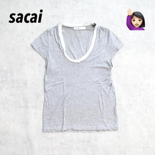 サカイラック(sacai luck)のsacai luck サカイラック ドメスティック グレー モノトーン レア(Tシャツ(半袖/袖なし))