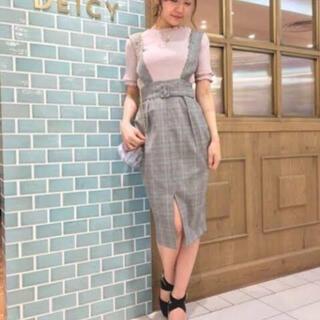 デイシー(deicy)のDEICY デイシー チェックスカート  ジャンパースカート(ひざ丈スカート)