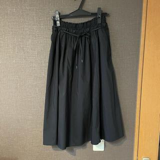 グローバルワーク(GLOBAL WORK)のGLOBAL WORK グローバルワーク ギャザースカート 黒(ロングスカート)